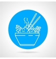 Boiled rice round icon vector