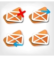 Web letter icon vector