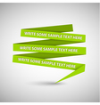 Green speech bubble vector