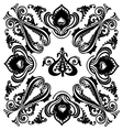 Vintage black floral swirling ornament vector