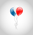 Flying balloons in american flag colors vector