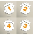 Set of brochures with numbers on the cover vector