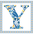 Blue letter y vector