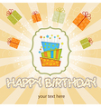 Big birthday cake with burning candles vector