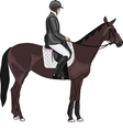 Jockey on a horse vector