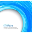 Bright 3d blue background vector