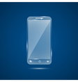 Glass mobile phone vector