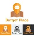 Flat fast food cafe logo set vector