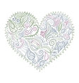 Ornamental colorful heart on white background vector