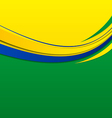Abstract wavy background in brazilian colors vector