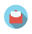 Flat design concept email send icon with lon vector