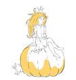 - cute little girl princess vector
