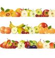 Three fruit design borders vector