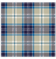 Blue seamless tartan plaid patter vector