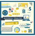 Money finance business analyze icon design vector