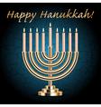 Happy hanukkah card vector