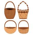 Set of baskets vector