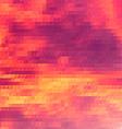 Sundown themed background with triangular grid vector