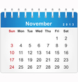 Stylish calendar page for november 2013 vector