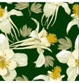 Seamless floral background with white flowers vector