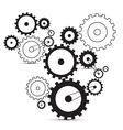 Cogs - gears on white background vector