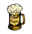 Cool fresh beer mag vector