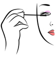 Eye makeup symbol vector