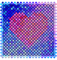Red color halftone heart shape vector