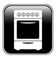 Stove button vector