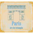 Hand drawn of paris triumph arc - grunge b vector