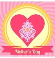 Mothers day card with heart vector