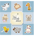 Baby shower card template vector