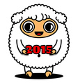 Sheep with 2015 sign vector