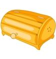 Cartoon home kitchen bread bin vector
