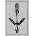 Restaurant fork vector