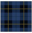 Blue seamless tartan plaid design vector