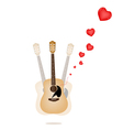 A beautiful guitar playing a love song vector