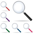 Pack magnifying glass isolated vector