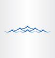 Water waves sea or ocean abstract design vector