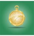 Golden watch vector