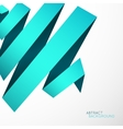 Abstract background blue cyan curved line ribbon vector