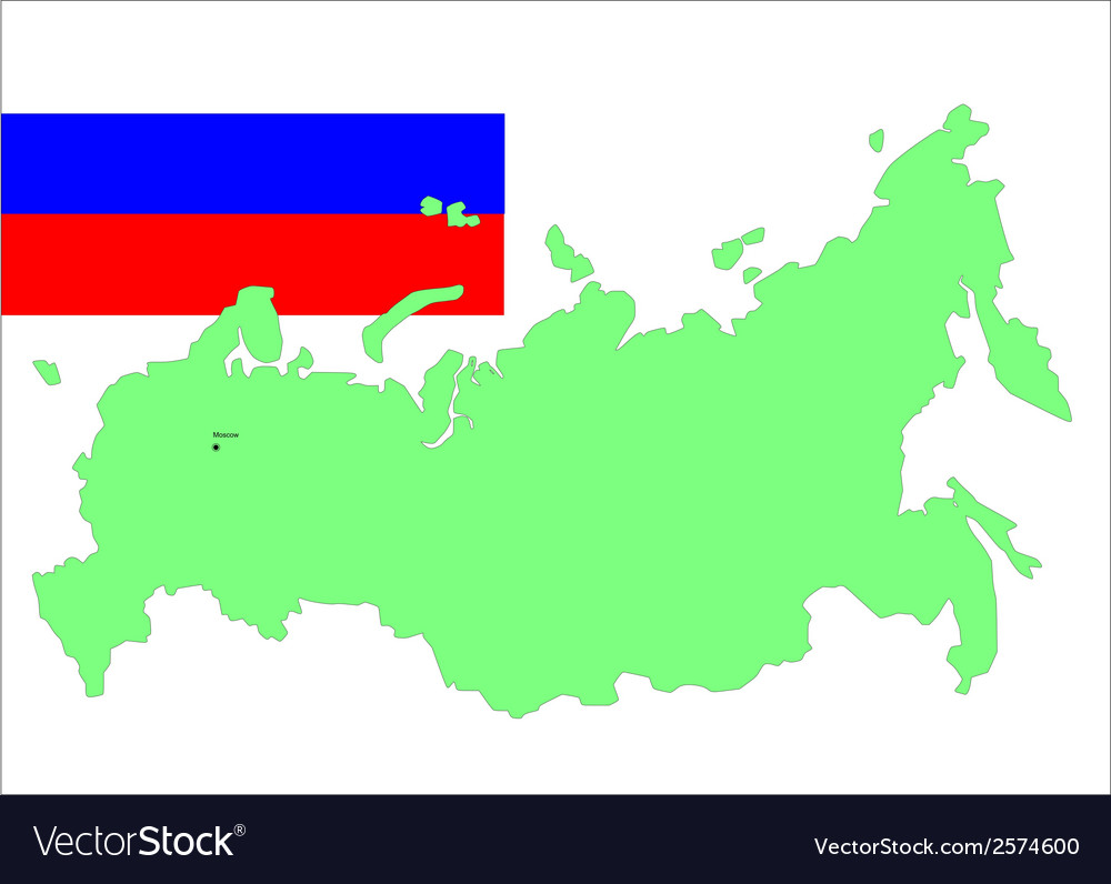 6204 russia map and flag vector | Price: 1 Credit (USD $1)