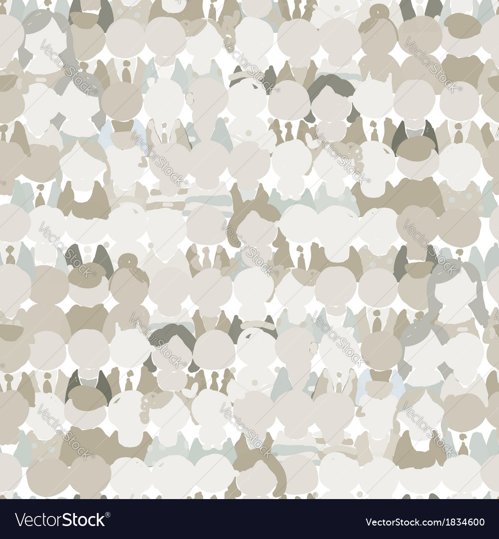 Abstract crowd of peoples seamless pattern for vector | Price: 1 Credit (USD $1)