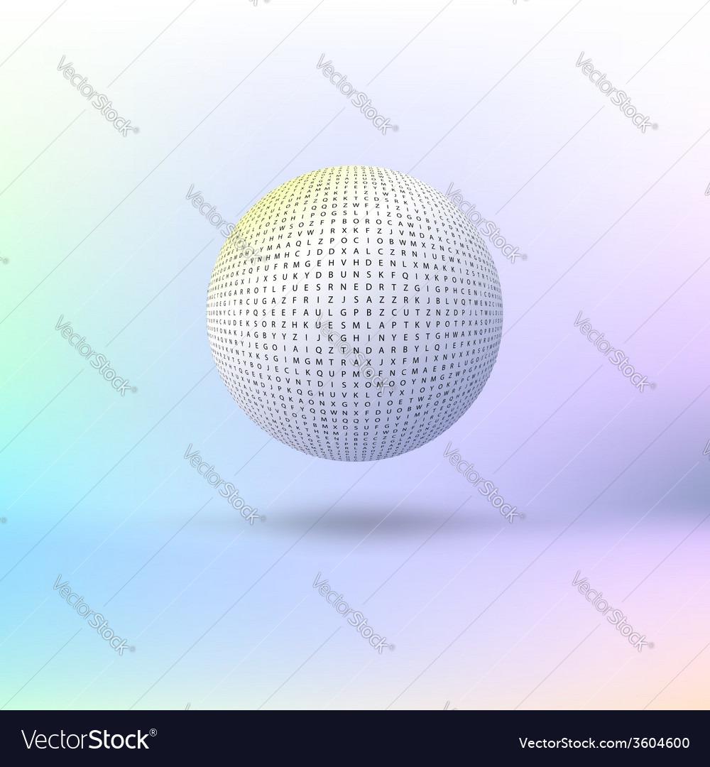 Ball of letters vector | Price: 1 Credit (USD $1)
