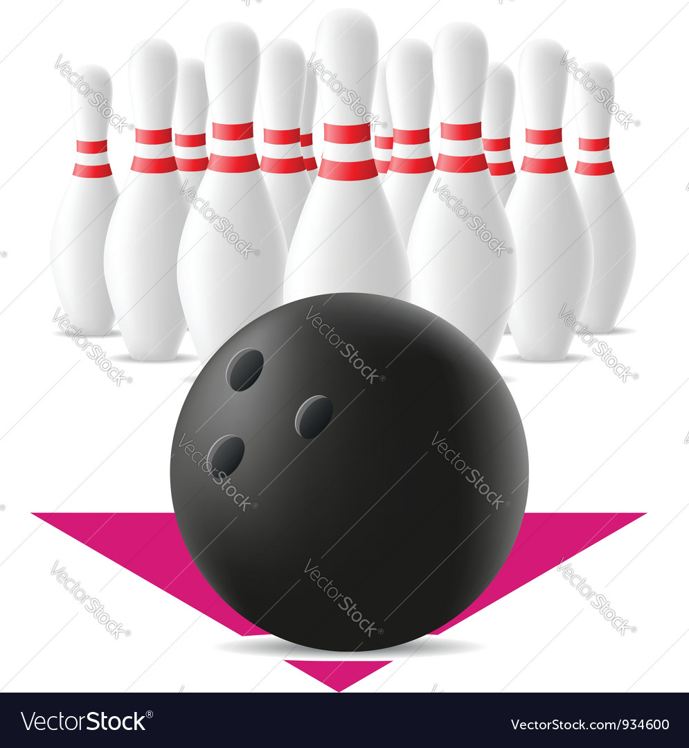 Bowling ball and skittles vector | Price: 1 Credit (USD $1)