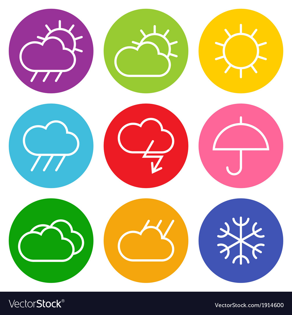 Colorful weather sign vector | Price: 1 Credit (USD $1)