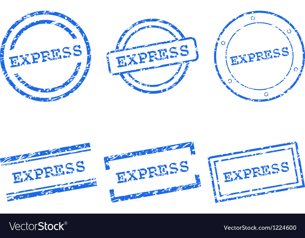 Express stamps vector | Price: 1 Credit (USD $1)