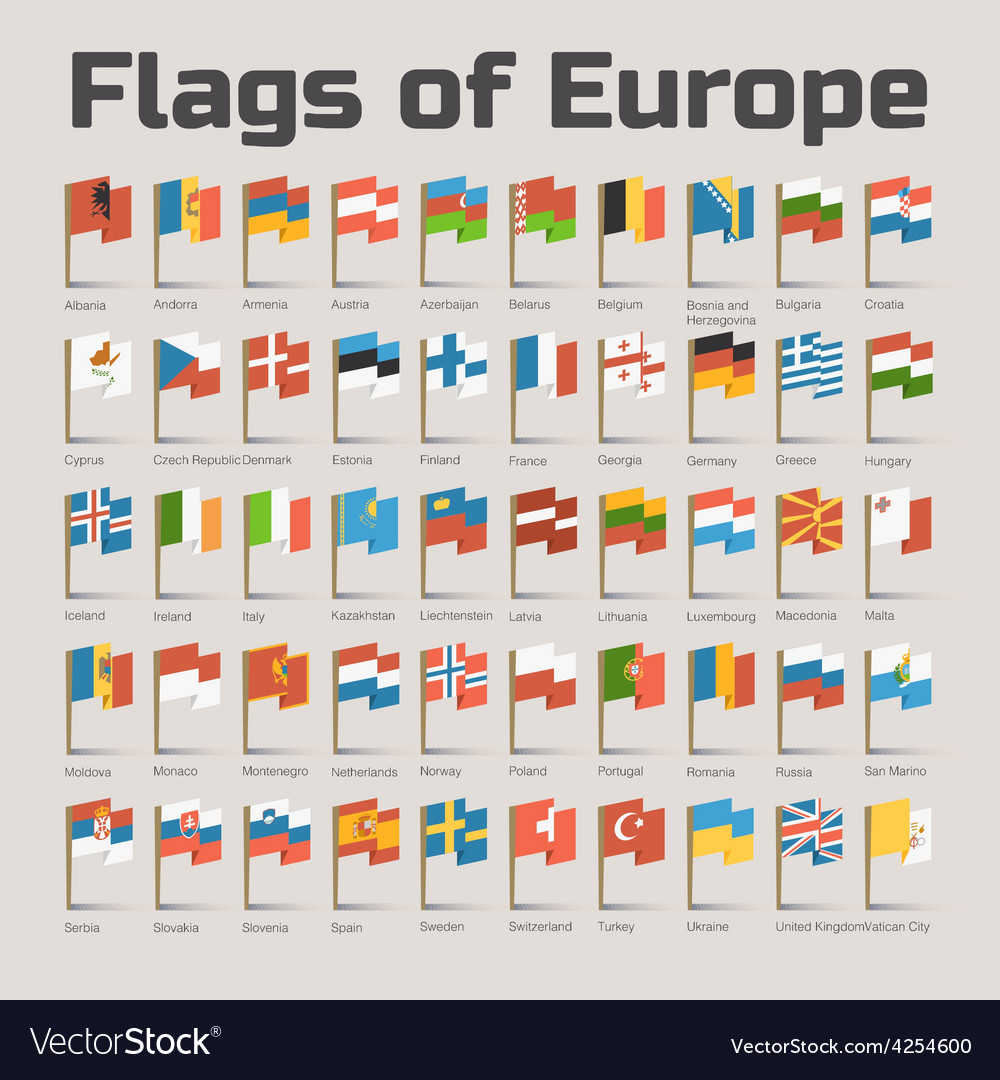 Flags of europe vector | Price: 1 Credit (USD $1)