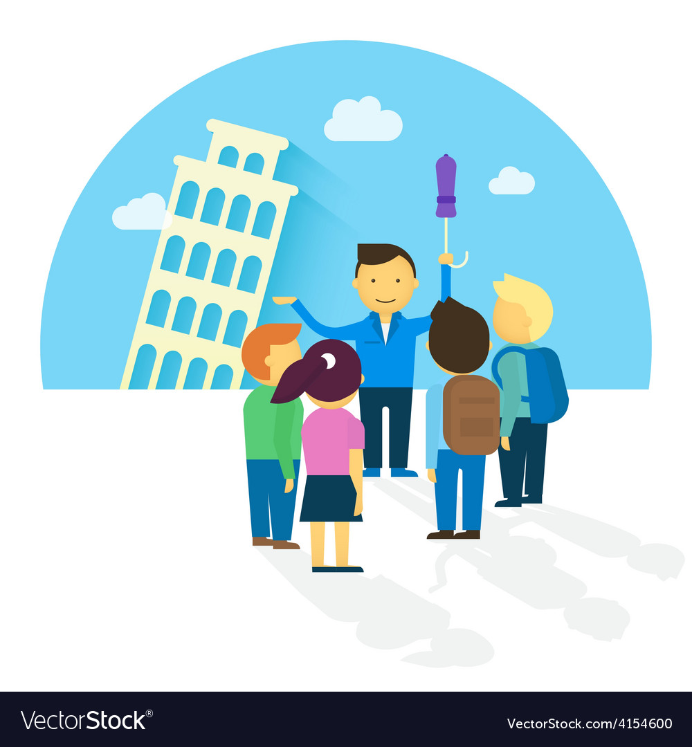 Group of tourist vector | Price: 1 Credit (USD $1)