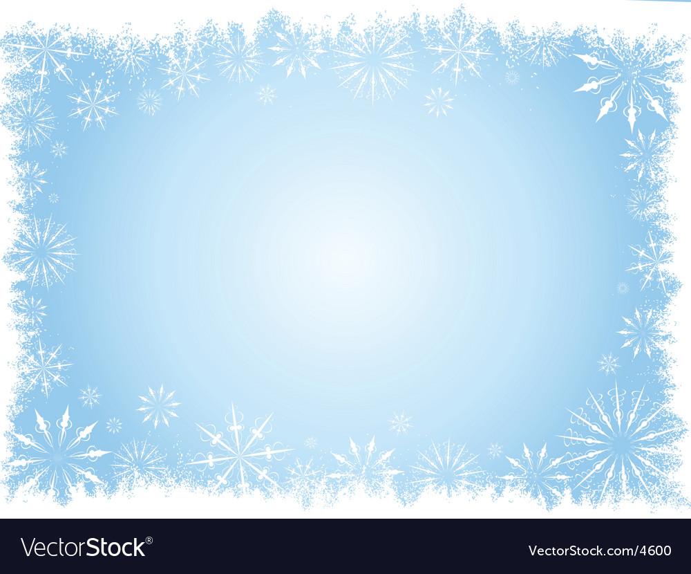 Grunge snowflake border vector | Price: 1 Credit (USD $1)